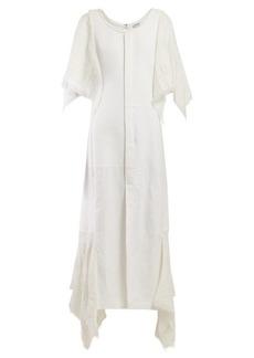 Loewe Handkerchief-sleeve cotton midi dress