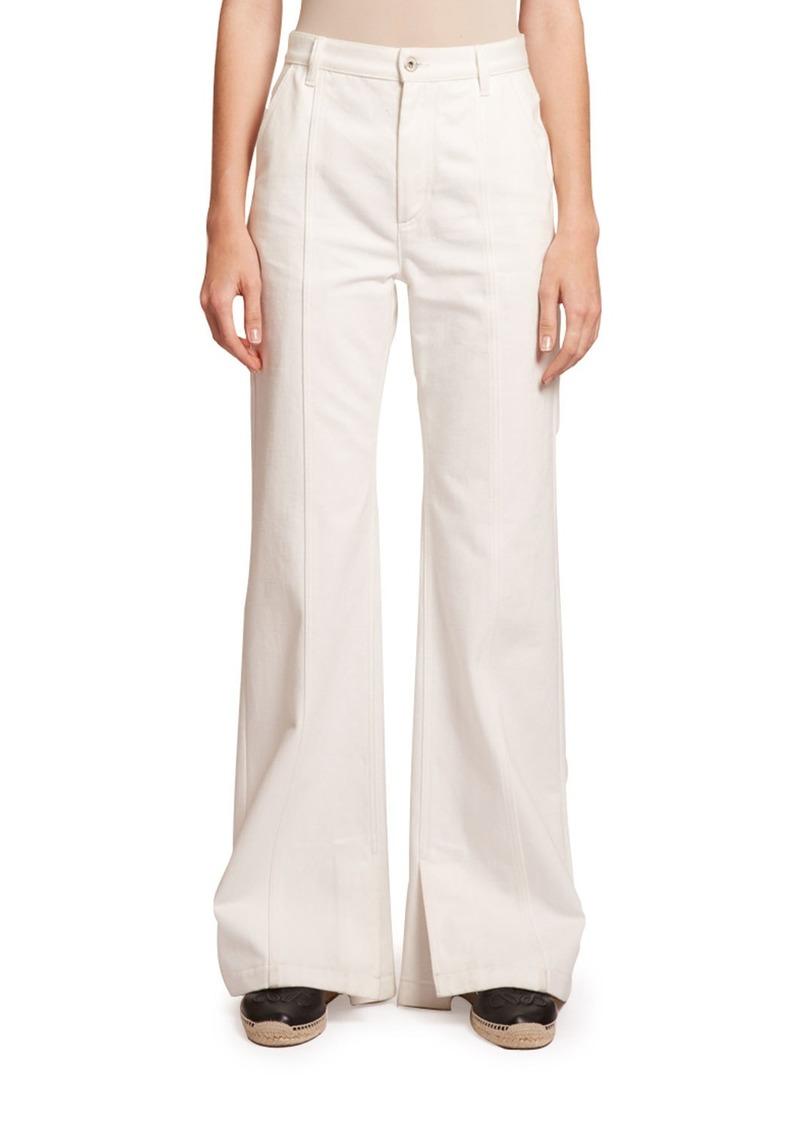 Loewe High-Rise Seamed Flare Jeans