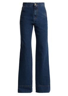 Loewe High-rise wide-leg flared jeans