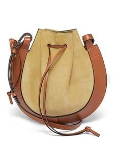 Loewe Horseshoe suede and leather bag