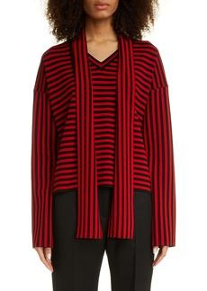 Loewe Lavaliere Stripe Wool Blend Sweater