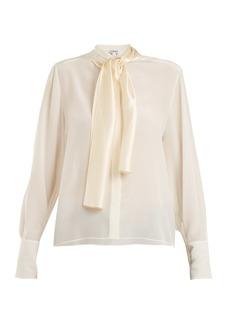 Loewe Lavallière-neck silk crepe de Chine blouse