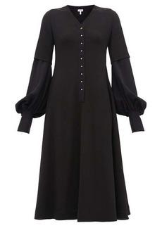 Loewe Layered-effect wool-crepe trapeze dress
