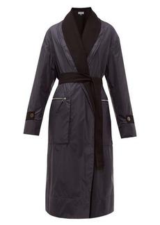 Loewe Reversible layered nylon and wool coat
