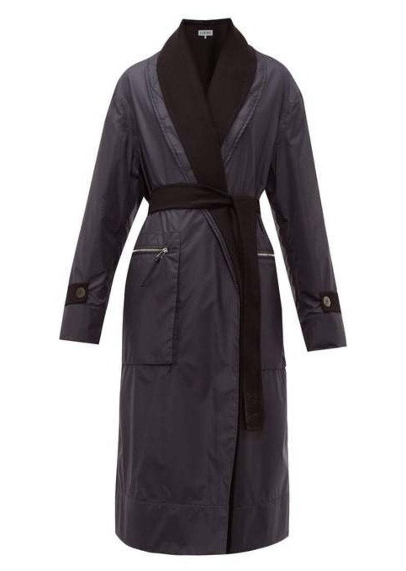 Loewe Reversible layered nylon and wool coat