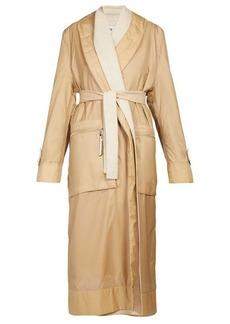 Loewe Layered single-breasted nylon and wool coat