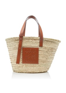Loewe Raffia and Leather Basket Bag
