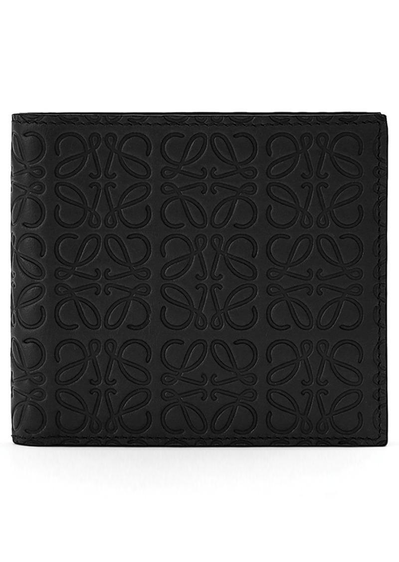 75cf39a95852 Loewe Loewe Logo Embossed Calfskin Leather Bifold Wallet