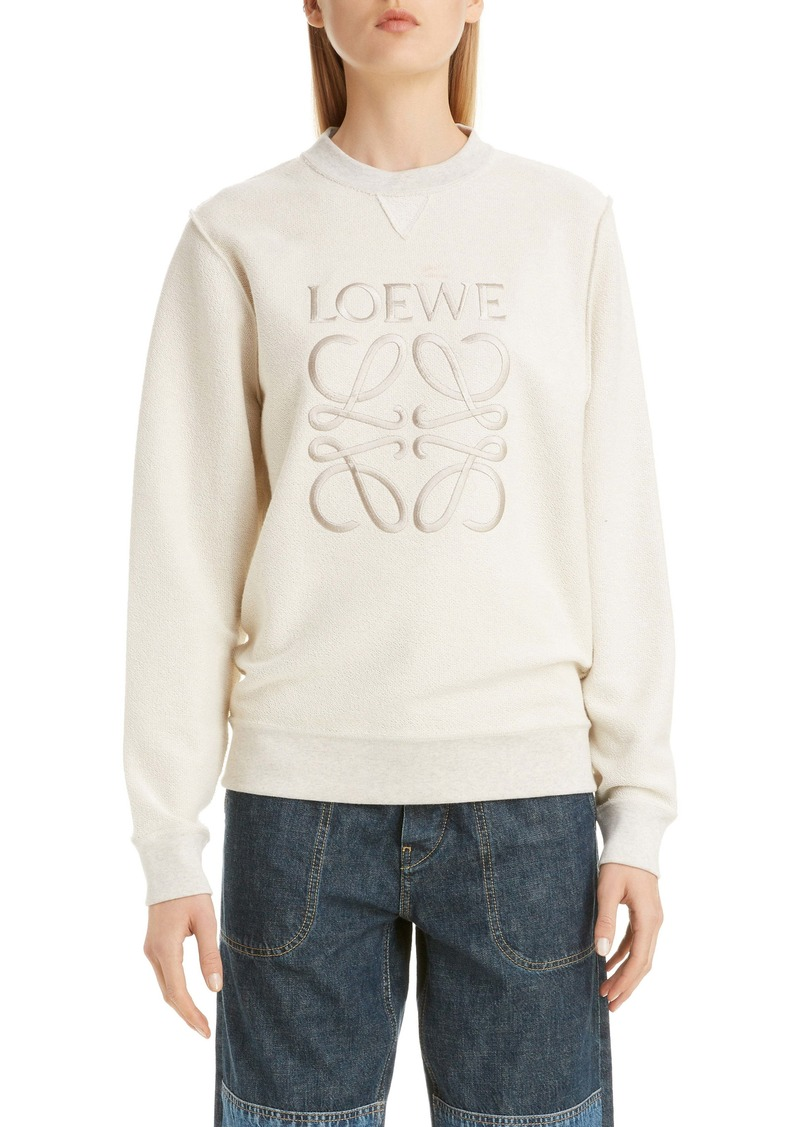 Loewe Logo Embroidered Inside Out Sweatshirt