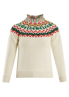 Loewe Logo Fair-isle knit sweater