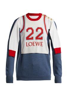 Loewe Logo-print varsity sweatshirt
