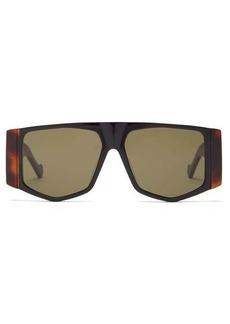 Loewe Mask tortoiseshell-effect acetate sunglasses