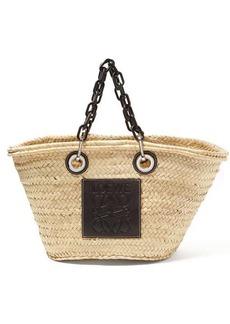 Loewe Medium chain-handle woven straw bag