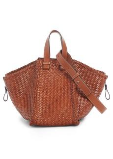 Loewe Medium Hammock Woven Leather Hobo
