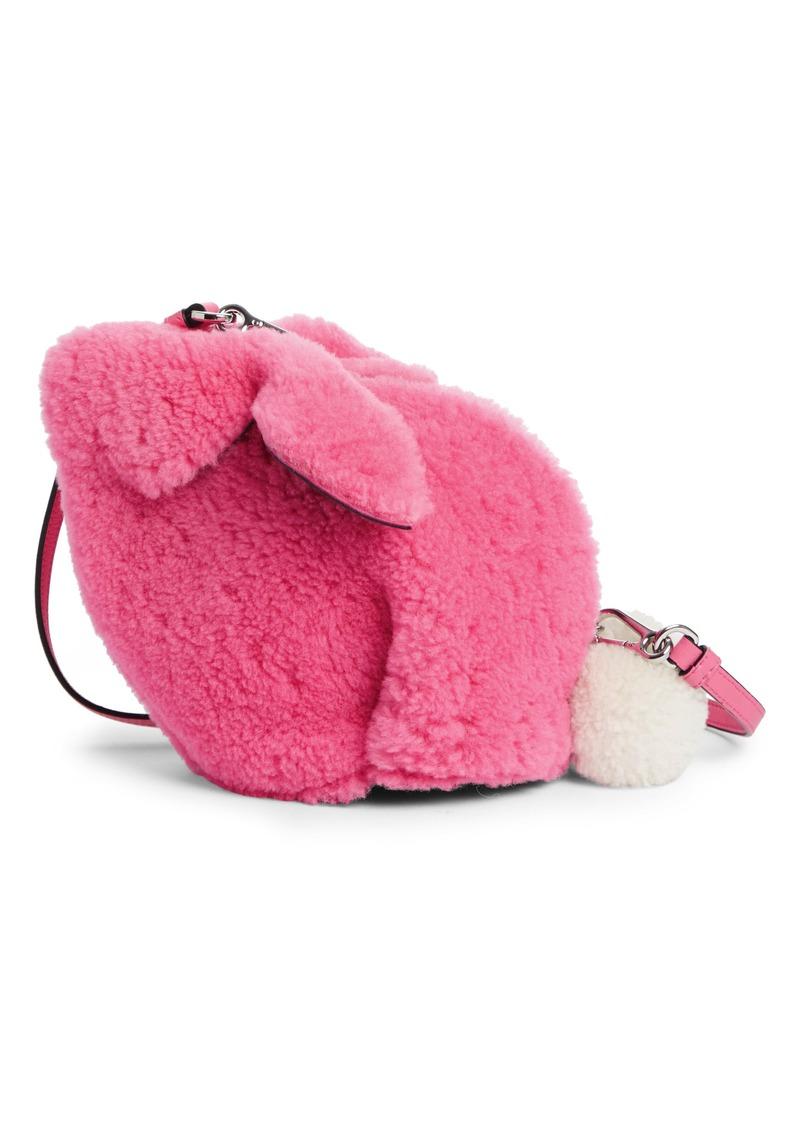 Loewe Mini Bunny Fuzzy Genuine Shearling Crossbody Bag