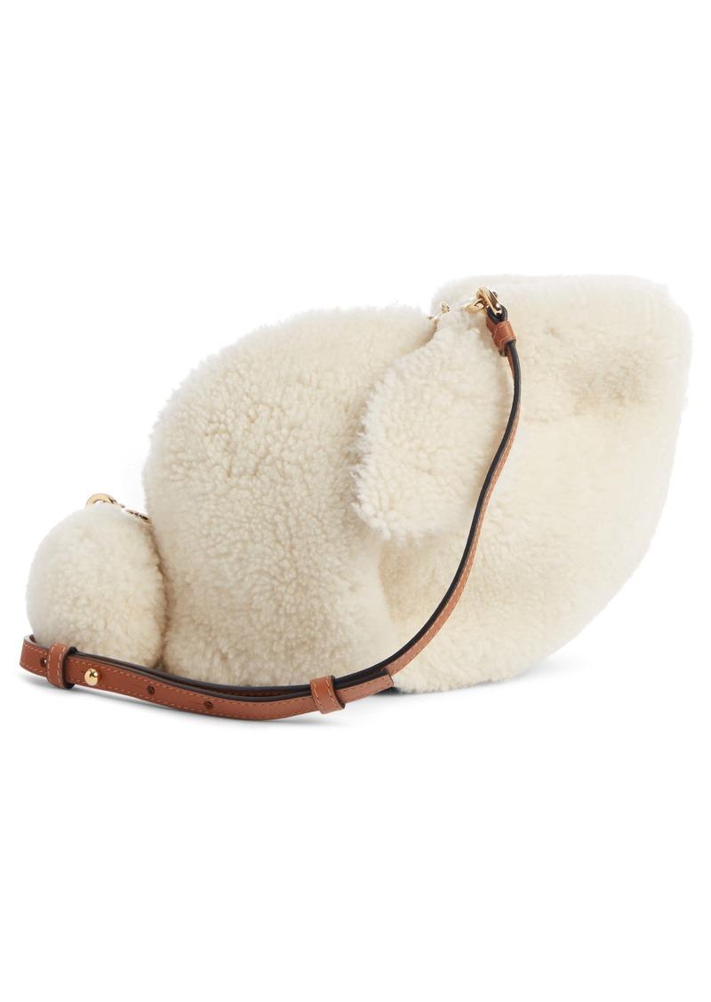 Loewe Mini Bunny Genuine Shearling & Calfskin Crossbody Bag