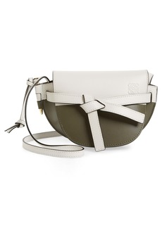 Loewe Mini Gate Colorblock Leather Crossbody Bag