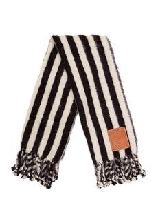 Loewe Mohair Stripes Scarf Blanket