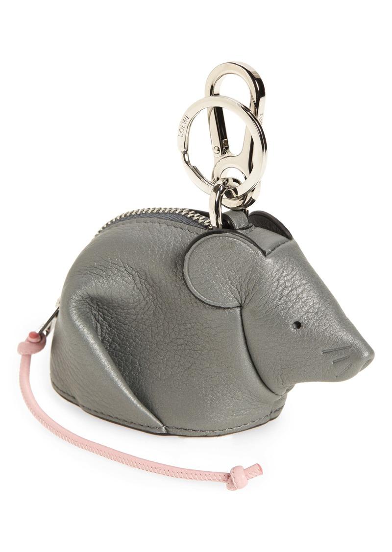 Loewe Mouse Calfskin Leather Bag Charm