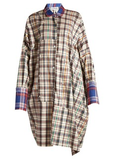 Loewe Oversized checked cotton-twill shirt