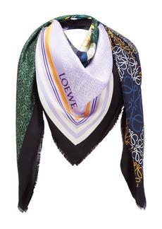 Loewe Patchwork-Print Silk Scarf