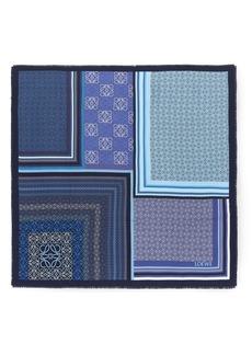 Loewe Patchwork Print Silk Square Scarf