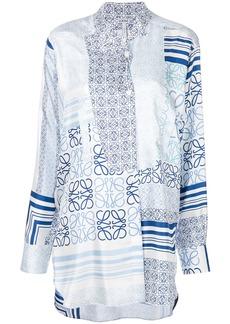 Loewe patterned panel blouse - Blue