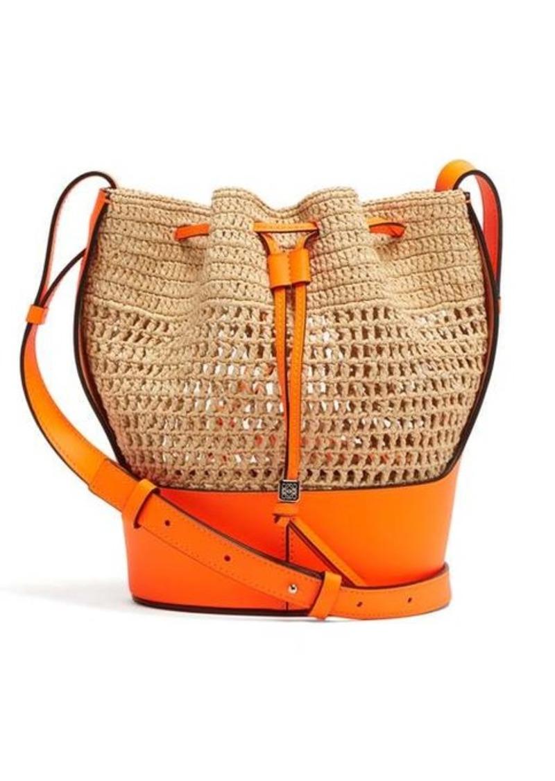Loewe Paula's Ibiza Balloon drawstring-top raffia shoulder bag