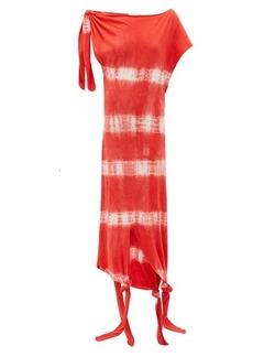 Loewe Paula's Ibiza Knotted tie-dye silk-cotton dress