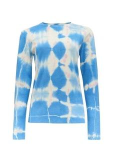 Loewe Paula's Ibiza Long-sleeved tie-dye silk top