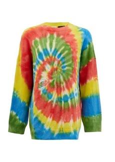 Loewe Paula's Ibiza Rainbow tie dye-jacquard cashmere jumper