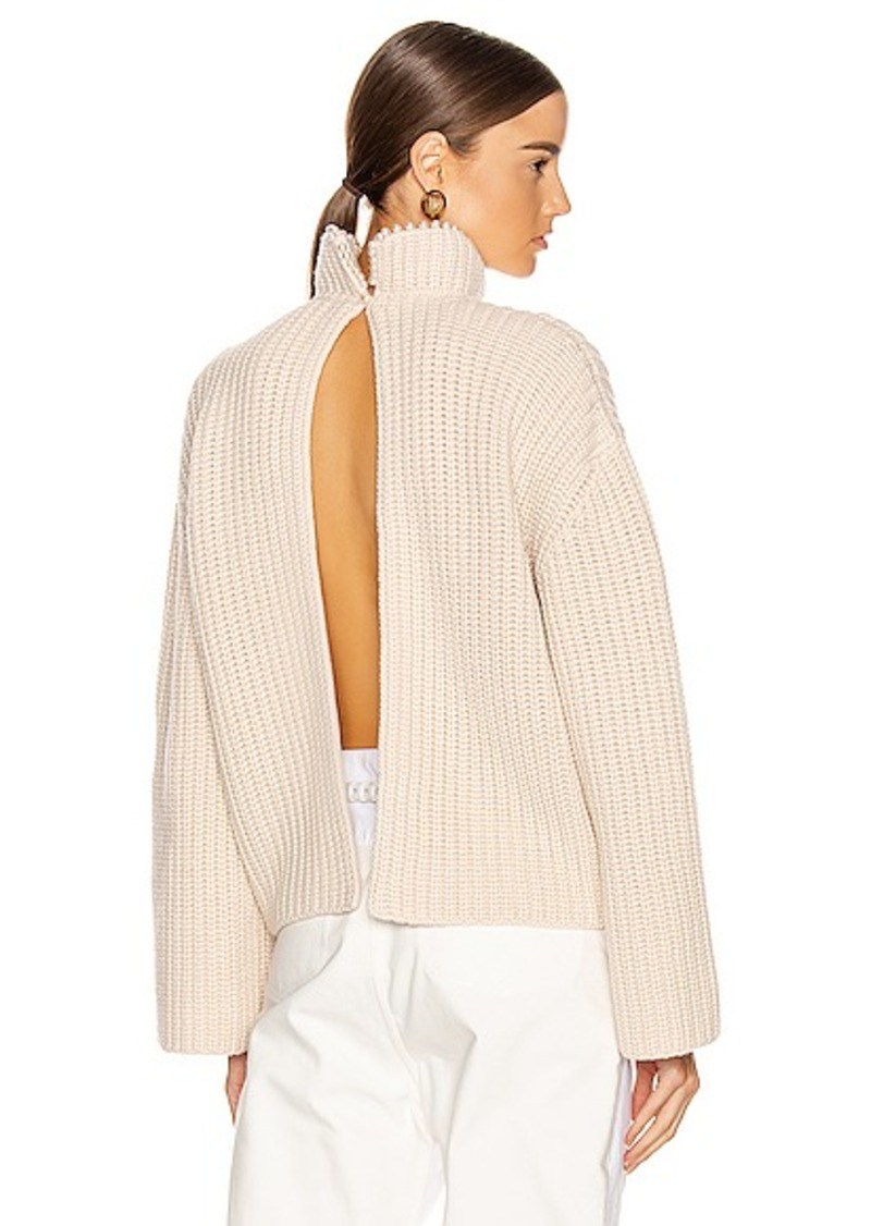 Loewe Pearls Cropped Sweater