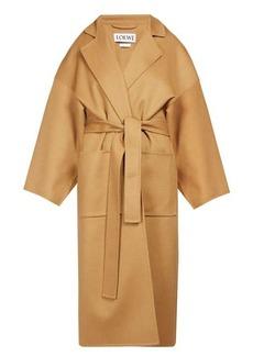 Loewe Piacenza oversized belted wool-blend coat