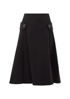 Loewe Pleated A-line wool skirt