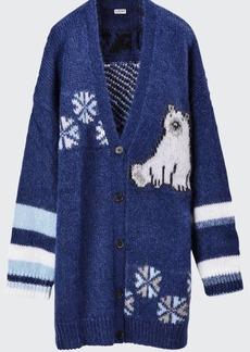Loewe Polar Bear Oversized Wool Cardigan
