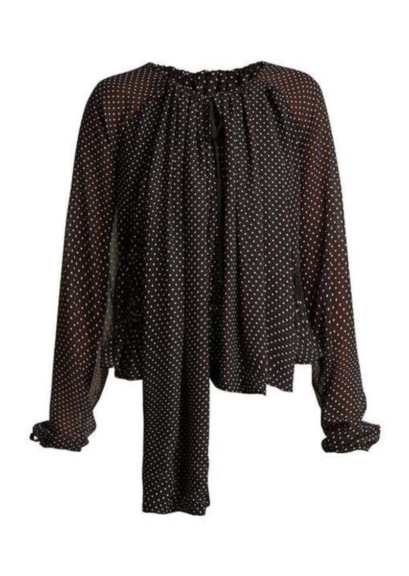 Loewe Polka-dot ruched blouse