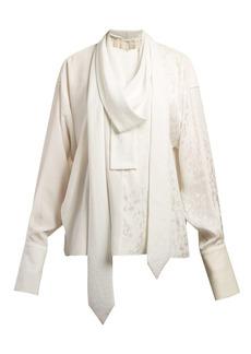 Loewe Pussy-bow jacquard-satin blouse
