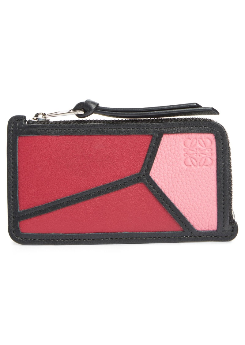 Loewe Puzzle Leather Zip Coin Case