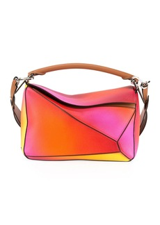 Loewe Puzzle Patchwork Colorblock Leather Satchel Bag