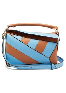 Loewe Puzzle small striped leather cross-body bag