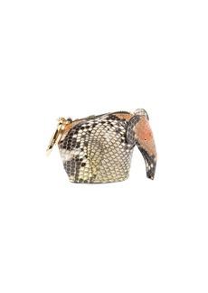 Loewe Python Elephant Bag Charm/Coin Purse  Brown