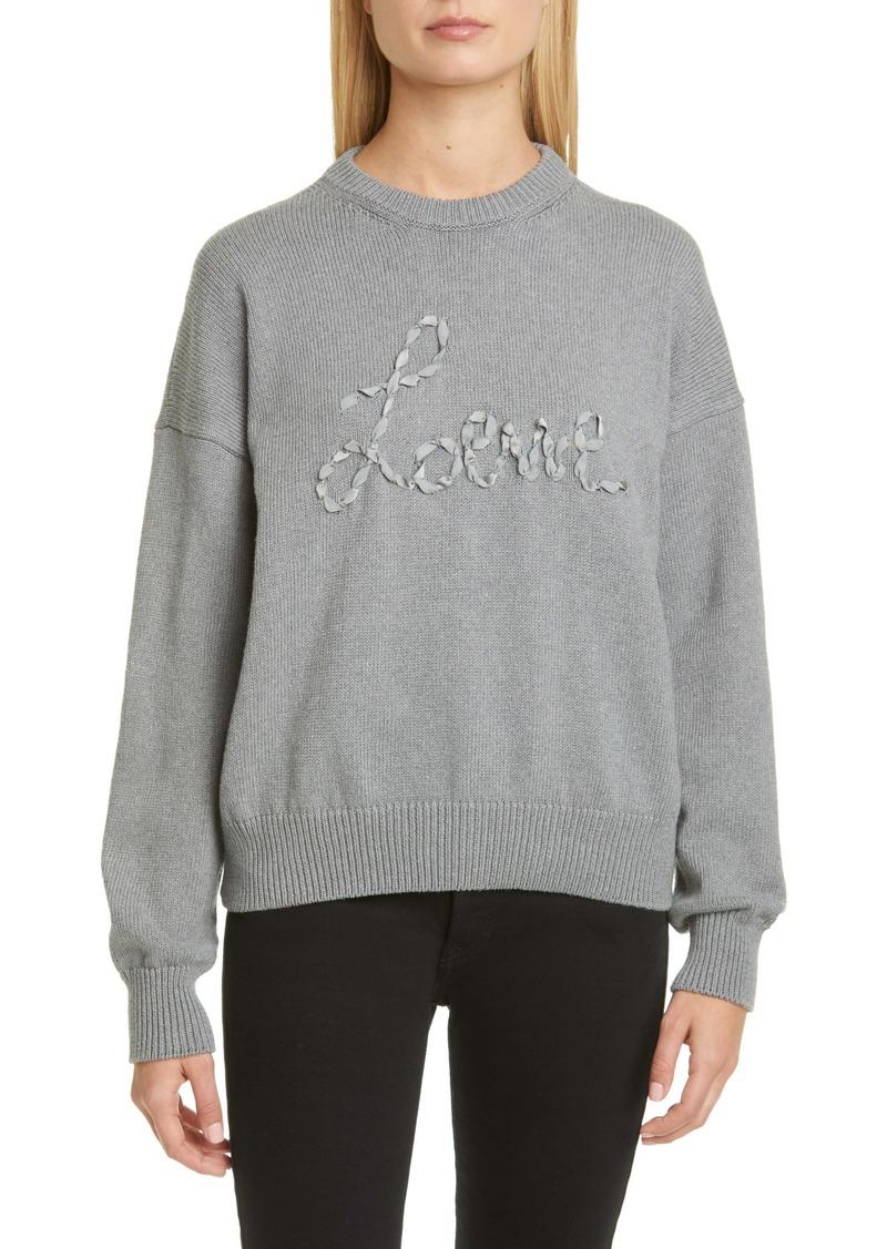 Loewe Ribbon Logo Cotton Sweater