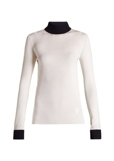Loewe Roll-neck ribbed sweater