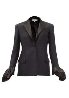 Loewe Ruffle-cuff single-breasted wool-blend jacket