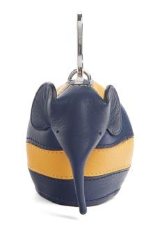 Loewe Rugby Stripe Leather Elephant Bag Charm