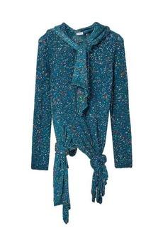 Loewe Knotted-hem sequinned sweater