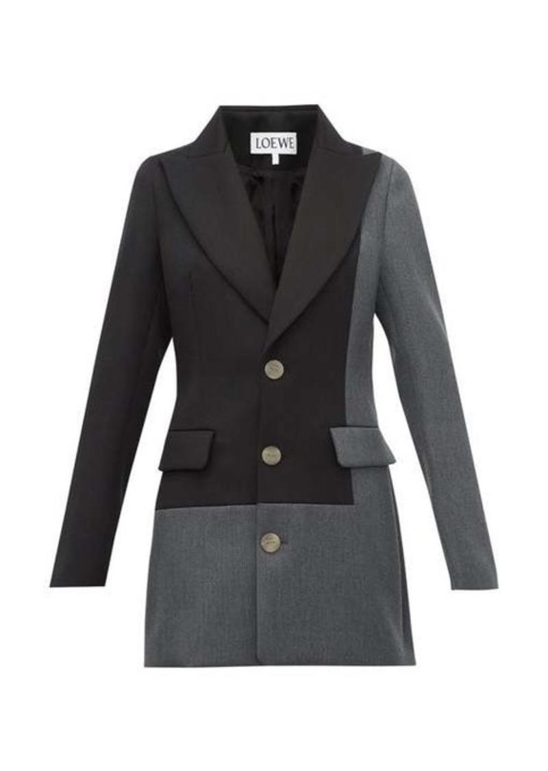 Loewe Single-breasted peak-lapel wool jacket