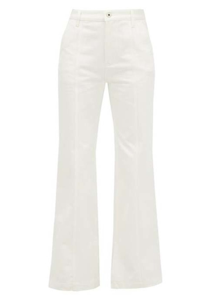 Loewe Slit-cuff topstitched straight-leg jeans