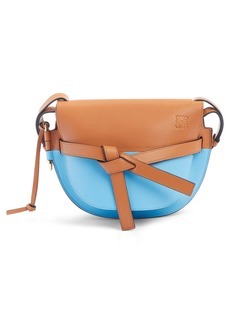 Loewe Small Gate Colorblock Calfskin Crossbody Bag