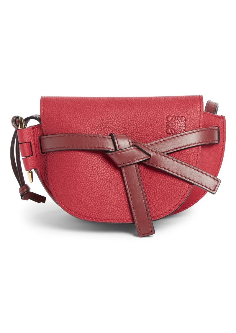 Loewe Gate Mini Leather Crossbody Bag